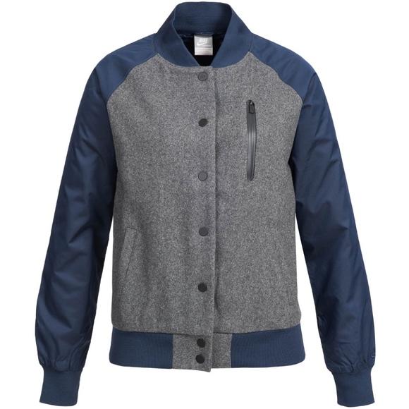 NIKE DESTROYER VARSITY BOMBER JACKET wool 394688 Boutique